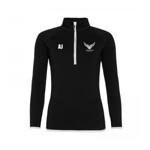 Miskin Magpies Netball Qtr Zip Top