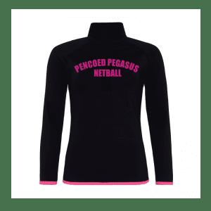 Pencoed Pegasus Netball Ladies Half Zip Sweatshirt