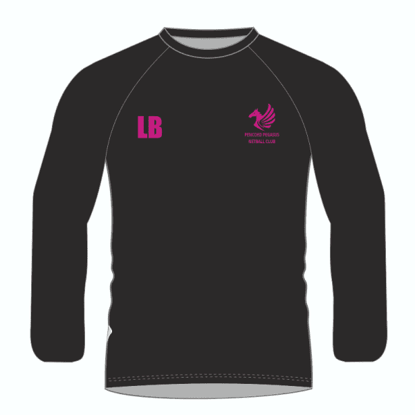 Pencoed Pegasus Netball Fruit of the Loom LS T Shirt