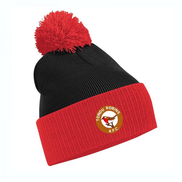 Tondu Robins FC Bobble Hat