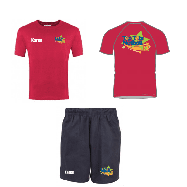 Top Tots Netball T Shirt and Shorts